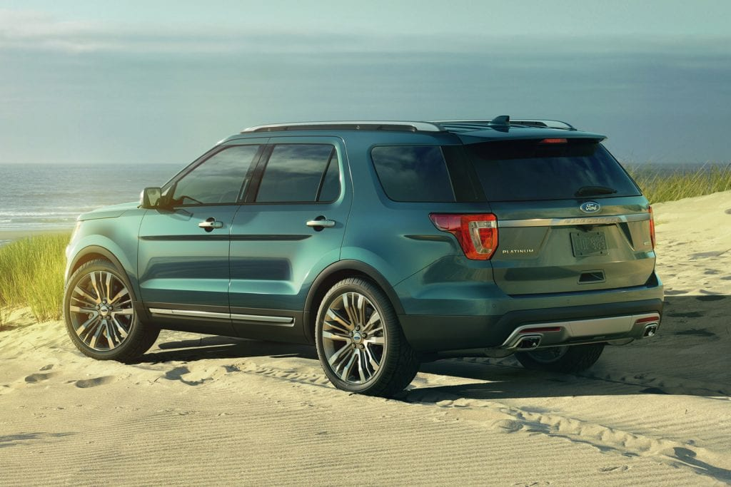 New 2016 Ford Explorer Platinum series in Blue Jeans