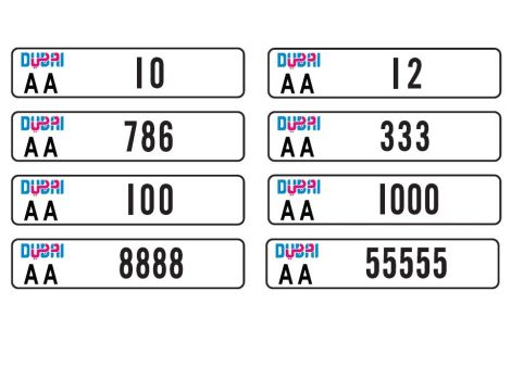 Next Generation Dubai Number Plates To Be Auctioned Off Next