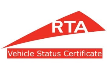 RTA Vehicle Status Certificate