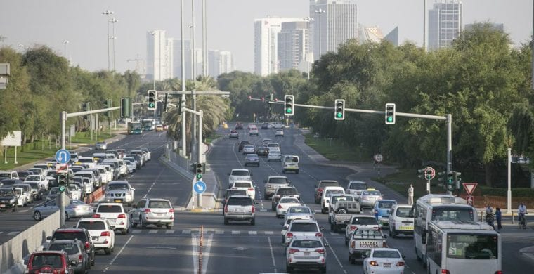 Abu Dhabi traffic toll