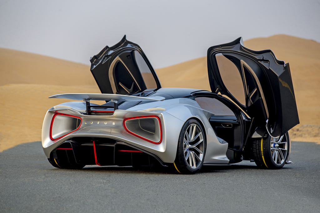 Lithium Ion Battery >> Lotus Evija stops by, makes UAE debut - Dubai, Abu Dhabi, UAE