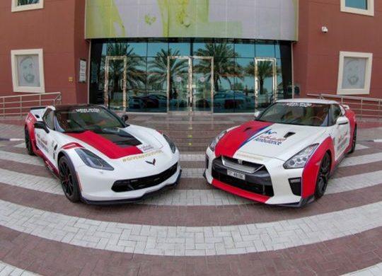Dubai Ambulance sports cars