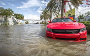Flooded Car Dubai