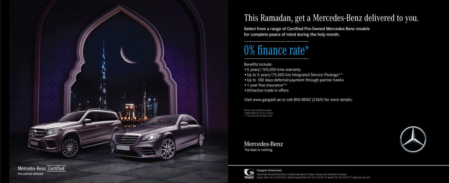 Up to 180 days deferred payments on certified pre-owned Mercedes-Benz