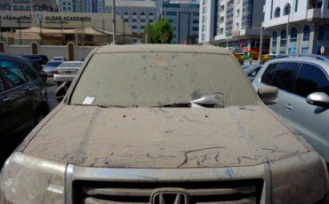 Dirty car UAE